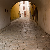 Labin, Croatia. Entrance to the old town of Labin, Croatia Stock Photos