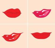 Labios stock de ilustración