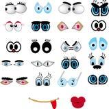 Labios de la historieta, conjunto del ojo Foto de archivo libre de regalías