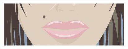 Labios de la mujer Fotos de archivo