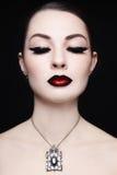 Labios de Ombre Foto de archivo