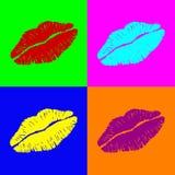 Labios de Warhol ilustración del vector