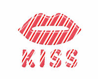 Labios del bastón de caramelo que usted quiere besarse Imagenes de archivo