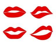 Labios determinados del beso de la impresión - Imagen de archivo libre de regalías