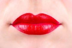 Labios femeninos Fotografía de archivo