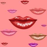 Labios femeninos textura, ejemplo del vector Fotos de archivo libres de regalías