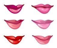 Labios fijados ilustración del vector