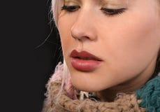 Labios llenos de Kissable Fotos de archivo