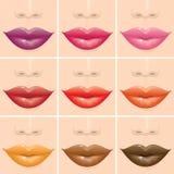 Labios multicolores Imagen de archivo libre de regalías