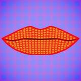 Labios multicolores brillantes Imágenes de archivo libres de regalías