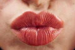 Labios que ponen mala cara Imagen de archivo libre de regalías