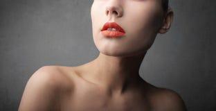 Labios rojos Fotos de archivo