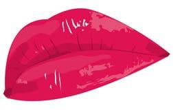 Labios rojos stock de ilustración