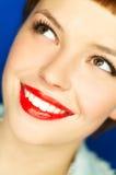 Labios rojos Fotografía de archivo