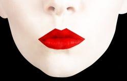 Labios rojos Imagen de archivo libre de regalías