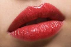 Labios rojos atractivos Fotos de archivo