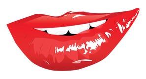 Labios rojos sensuales