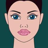 Labios secos stock de ilustración