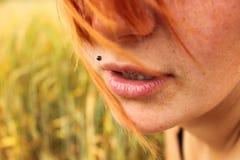 Labios sensuales Imágenes de archivo libres de regalías