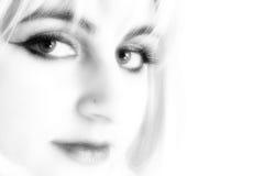 Labios y anillo de nariz Imagen de archivo