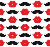 Labios y bigote ilustración del vector