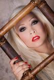 Labios y clavos rojos Foto de archivo libre de regalías