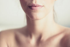 Labios y cuello rosados Foto de archivo
