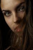 Labios y pelos Imagen de archivo libre de regalías