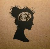 Labirint mening Vektor Illustrationer