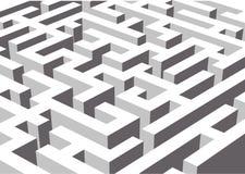 Labirinth de Black&While Imagens de Stock Royalty Free