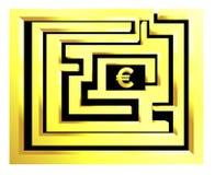 Labirinth euro Royalty Free Stock Image