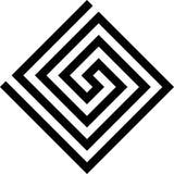 Labirinth-Griechesymbol Griechischer Schlüssel Typische ägyptische, assyrian und griechische Motive vector Symbol Stockfotos