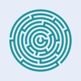 Labirinth liso ilustração do vetor