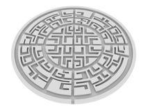 Labirinth rotondo Immagini Stock