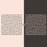 Labirinti di confronto Immagine Stock
