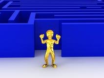 Labirinto. 3d Fotografia de Stock Royalty Free