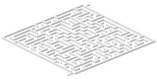 labirinto 3d Fotos de Stock