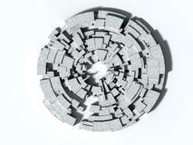 labirinto 3D Imagens de Stock
