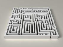 labirinto 3D Imagem de Stock
