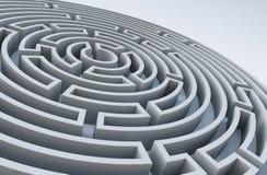 labirinto 3D Fotos de Stock Royalty Free