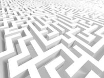labirinto 3D Fotografie Stock