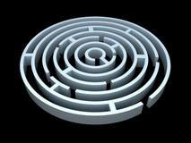 labirinto 3D redondo Fotografia de Stock Royalty Free