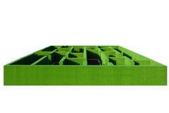 Labirinto 3d verde Fotografia de Stock