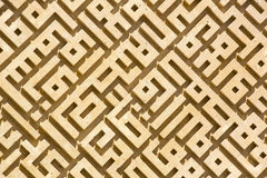 Labirinto abstrato da pedra Imagens de Stock