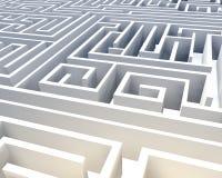 Labirinto astratto 3D Immagine Stock Libera da Diritti
