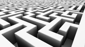Labirinto bianco Immagine Stock