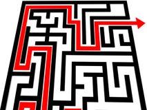 Labirinto in bianco e nero Immagini Stock Libere da Diritti