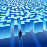 Labirinto blu (labirinto) e l'uomo Immagini Stock Libere da Diritti