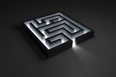 Labirinto brilhante pequeno ilustração do vetor