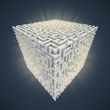 Labirinto cúbico ilustração royalty free